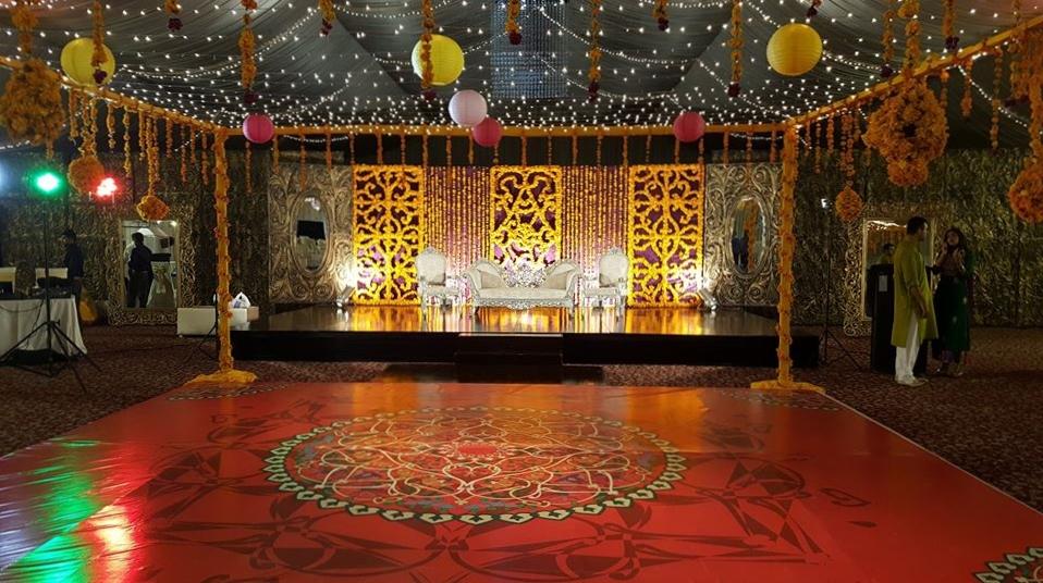 Mendhi dance floor